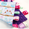 HAPPY OWLS ON A BRANCH -  Baby Security Blanket Blankie Taggie Toy