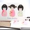Happy Birthday Card Pack - 3 Kokeshi Dolls - Set of 3 Cards - Female - HC3_009