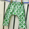Boys Roomy Pants - Green Cubes
