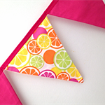 Gorgeous citrus and pink bunting!