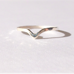 Sterling silver chevron ring, tear drop ring, stacking ring