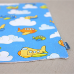 wash or burp cloth - planes /organic cotton and bamboo / baby toddler boy girl
