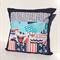 Ahoy Matey Cushion Cover w/ Aqua, Navy Blue & Red Nautical Theme