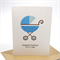 Baby Card - It's a Boy - Blue Polka Dot Pram - BBYBOY034