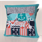 Ahoy Matey Cushion Cover w/ Aqua, Navy Blue & Red Nautical Theme