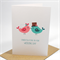 Wedding Card Congratulations - 2 Love Birds Kissing - WED038