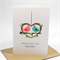 Engagement Card - 2 Love Birds in a Heart - ENG018