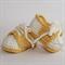 Crocheted Little Sport Saddles Booties. Size 0-3 months - 6-12 months