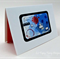 Blue, light blue, red blank greeting card -I love you