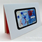 Blue, light blue, red blank greeting card -Happy Birthday