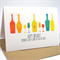 Happy Birthday Card - Female or Male - Wine Bottles and Glasses - HBF120