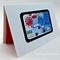 Blue, light blue, red blank greeting card - Thanks Mum