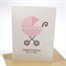 Baby Girl Card, It's a Girl - Pink Polka Dot Pram - BBYGRL029 Congratulations