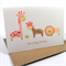 Happy Birthday Card - Girl - Animals - Giraffe, Zebra and Lion - HBC126