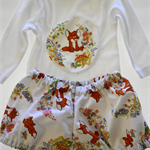 Gorgeous Vintage Fabric Bloomers and Long Sleeve Suit.