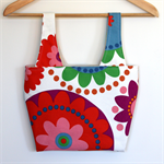 Little Miss Linda Lunch Bag Bright Circle Rainbow Circle Flower Blooms
