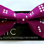 Bow Tie for boys and men Maroon Dots Domino