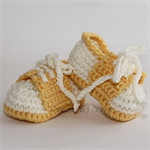 Crocheted Little Sport Saddles Booties. Size 0-3 months - 6-12 months