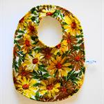 Retro Vintage Towelling Floral Bib