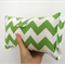 Nappy Wallet - Lime Green Chevron