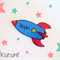 Personalized Name Rocket Brooch