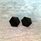Hex cut laser cut studs by Little Red Head Jewellery