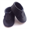 Navy Blue Leather Baby Moccasins