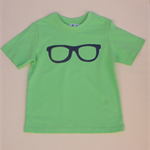 Boys' Green T-shirt with Glasses Applique - Size 4 (198)
