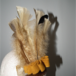 Hiawotha Indian SALE  costume fancy-dress headdress feathers brown mustard felt