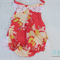 Vintage Shabby Chic 'Red and Pink Floral' Romper Playsuit Baby Girl Set