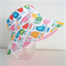 Girls summer hat in bright owls fabric