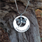 names / own message personalised necklace, with sterling silver dragonfly.