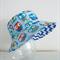 Boys summer hat in blue owl fabric
