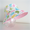 Girls cute summer hat in spring birdie fabric