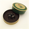 Typewriter-key cufflinks in vintage tin - SEMI-COLON punctuation key set