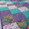 Cot Quilt - Purple Patch