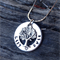 names / own message personalised necklace, antique silver tree of life