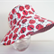 Girls cute summer hat in ladybug fabric