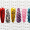 Set of Six Sequin Snap Clips