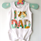 Top Selling Fathers Day Jade Floral fabric I Heart Dad Design.All sizesAvailable