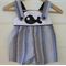 Boys short overalls - rompers, whale, seaside, navy, white, seersucker