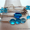 Blue and Silver Memory Wire Bracelet