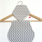 Burp cloth and bandana bib set - grey white chevron baby unisex boy