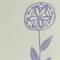 Rustic flower linocut letterpress greeting card