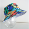 Boys bright summer hat in dinosaur fabric