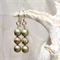 Dusty Gold Cloisonne Earrings