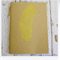 Gold Feather - Hand Stamped & Glitter Embossed Blank Page Journal Notebook