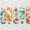 Set of Mix Flower Printed Snap Clips