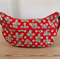 Rabbit Red x Beige Polka Dot Messenger Bag / Hobo Bag / Shoulder Bag  Large Size