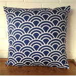Navy Swell Cushion Cover